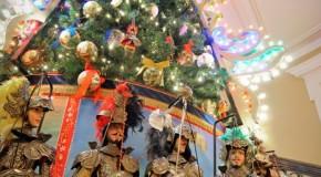 Un albero di Natale dallo stile siciliano nel cuore di Londra