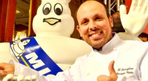 Showcooking stellato con lo chef siciliano Giuseppe Costa all'Expo 2015