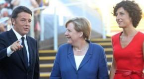 Expo, cena a base di pesce per Renzi e la Merkel