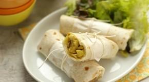 San Valentino, ricetta: Piccole tortillas con pollo al curry con sedano e mela verde