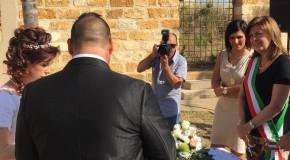 Montevago, celebrati i primi due matrimoni tra i ruderi del sisma al Baglio Ingoglia